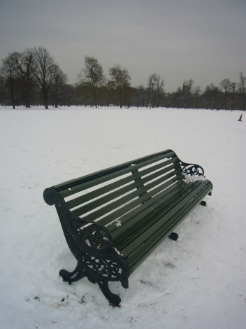 Hyde Park Bench in the Snow